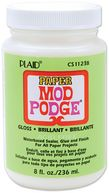 Mod Podge Paper Gloss Finish-8 Ounces by Plaid: Product Image