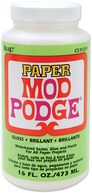 Mod Podge Paper Gloss Finish-16 Ounces by Plaid: Product Image