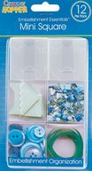 "Cropper Hopper Mini Embellishment Boxes 12/Pkg-Frost - 1.6""X1.6""X.5"" by Advantus: Product Image"