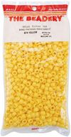 Pony Beads 6x9mm 900/Pkg-Opaque Yellow by Beadery: Product Image