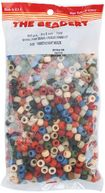 Pony Beads 6x9mm 900/Pkg-Americana Multi by Beadery: Product Image