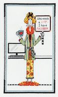 "Dolly Mama's Who Needs A Life Counted Cross Stitch Kit-6""X10"" 14 Count by Janlynn: Product Image"
