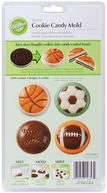 Candy Mold-Sports 8 Cavity (4 Designs) by Wilton: Product Image