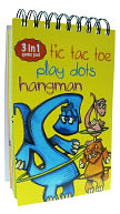 3 in 1 Eric Sturtevant Dino Tic, Tac, Toe, Hangman, Dots Game by A Blaine: Product Image