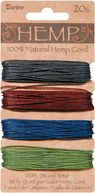 Hemp Cord 20# 120 Feet/Pkg-Earthy Pastels by Darice: Product Image