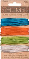 Hemp Cord 20# 120 Feet/Pkg-Brights by Darice: Product Image