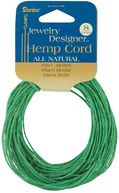 Hemp Cord 20# 8 Yards/Pkg-Green by Darice: Product Image