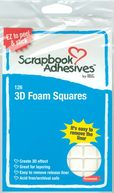 "3D Permanent Foam Squares 126/Pkg-White .5""X.5"" by 3L: Product Image"