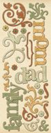 Ancestry.com Adhesive Chipboard-Words &amp; Swirls by K&amp;Company: Product Image