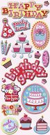 Adhesive Chipboard 4.5&quot;X13.5&quot; Sheet-Sweetie Birthday by K&amp;Company: Product Image