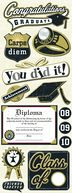 Adhesive Chipboard 4.5&quot;X13.5&quot; Sheet-Graduation by K&amp;Company: Product Image