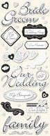 Adhesive Chipboard 4.5&quot;X13.5&quot; Sheet-Wedding by K&amp;Company: Product Image