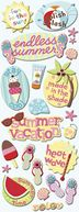 Adhesive Chipboard 4.5&quot;X13.5&quot; Sheet-Summer Fun Play by K&amp;Company: Product Image