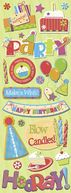 Adhesive Chipboard 4.5&quot;X13.5&quot; Sheet-General Birthday by K&amp;Company: Product Image