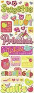 Berry Sweet Adhesive Chipboard-Glitter Words &amp; Icons by K&amp;Company: Product Image