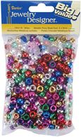 Pony Beads 6x9mm 380/Pkg-Metallic Multi by Darice: Product Image