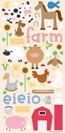 Barnyard Cardstock Stickers 6&quot;X13&quot; Sheet-Icons by Doodlebug: Product Image