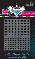 Bazzill Self-Adhesive Jewels 3mm &amp; 4mm Mix 108/Pkg-Blackbird by Bazzill: Product Image