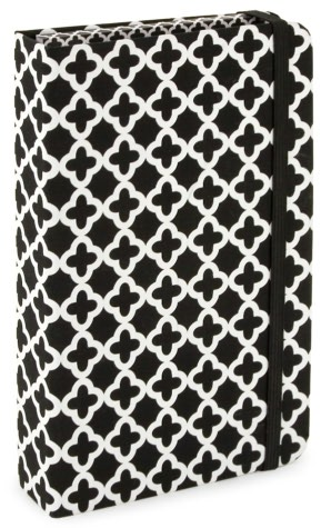 Quatrefoil Black &amp; White Receipt Organizer