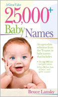 25,000+ Baby Names by Bruce Lansky: Book Cover