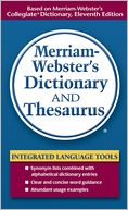 Merriam Webster's Dictionary and Thesaurus by Merriam-Webster: Book Cover