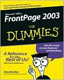 Front Page 2003 for Dummies by Asha Dornfest: Book Cover