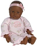 Adora Playtime Babies Dark Skintone Brown & Eyes with Pink Romper 13 inch Baby Doll by Charisma Brands: Product Image