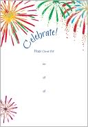 Celebrate! Fill-In Invitations Set of 10 by Caspari: Product Image