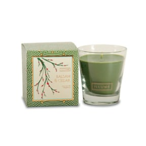 Balsam and cedar candle