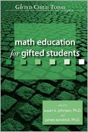 Math Education For Gifted Students by Susan K. Johnsen: Book Cover