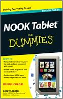 NOOK Tablet For Dummies by Corey Sandler: Book Cover