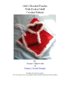 Free Crochet Pattern - Childs Sunnytime Poncho from the Ponchos