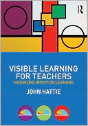 Visible Learning for Teachers by John Hattie: Book Cover
