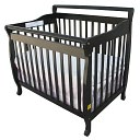 Dream On Me, 3 in 1 Portable Convertible Crib, Black by Dream On Me: Product Image