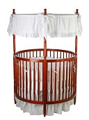 Dream On Me, Sophia Posh Circular Crib, Cherry by Dream On Me: Product Image