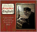 2013 Forgotten English Box/Daily Calendar by Jeffrey Kacirk: Calendar Cover