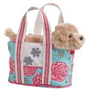 Floral Harvest Tote with Golden Retriever 7 inch Tote by Douglas Co.: Product Image