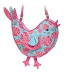 Floral Harvest Bird Sillo 9.5 inch Purse by Douglas Co.: Product Image