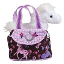 Pink Filly with Horse 7 inch Tote by Douglas Co.: Product Image