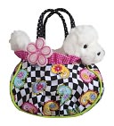Hip Happy Tote with Bichon 7 inch Purse by Douglas Co.: Product Image