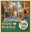 French Village 1000 piece puzzle by Outset Media: Product Image