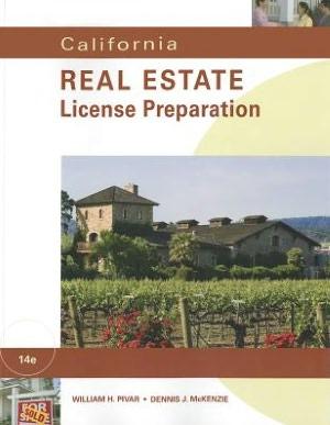 Download books online for free for kindle California Real Estate License Preparation by William H. Pivar, Dennis J. McKenzie