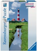 Westerhever Lighthouse 1000 Piece Puzzle by Ravensburger: Product Image