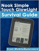 Nook Simple Touch GlowLight Survival Guide by MobileReference: NOOK Book Cover