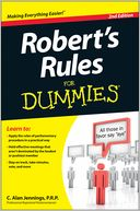 Robert's Rules For Dummies by C. Alan Jennings: Book Cover
