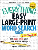 The Everything Easy Large-Print Word Search Book, Volume II by Charles Timmerman: Book Cover