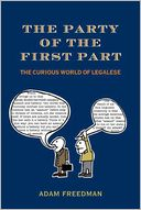The Party of the First Part by Adam Freedman: Book Cover