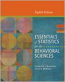 Essentials of Statistics for the Behavioral Sciences by Frederick J Gravetter: Book Cover
