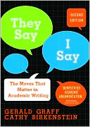 &quot;They Say / I Say&quot; by Gerald Graff: Book Cover