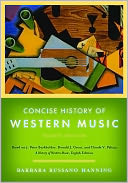Concise History of Western Music by Barbara Russano Hanning: Book Cover